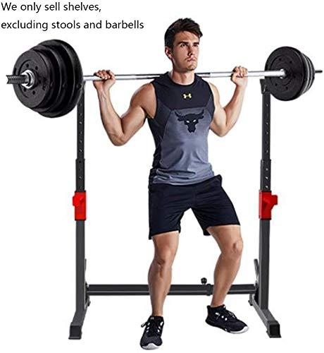 Rack de sentadillas de altura ajustable, Barra de entrenamiento físico de fuerza, Banco de prensa libre de barra de soporte de sentadillas, Soporte de entrenamiento de fuerza para gimnasio en casa
