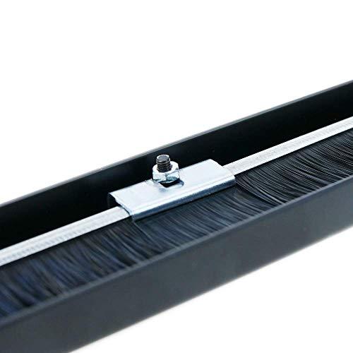 """RackMatic - Panel pasacables guíacables para Armario Rack 19"""" 1U con Cepillo para gestión de Cables"""