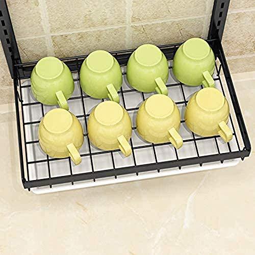 Racks de Cocina de Acero Inoxidable, Platos, desagües, Cuchillo de Cocina montado en la Pared, sin Perforaciones