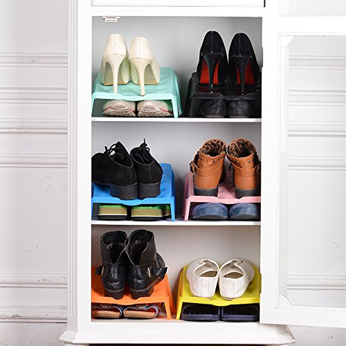 Racks Dobles Para Zapatos Racks Para Zapatos Drop Racks Dobles Para Almacenamiento Racks Para Almacenamiento (6 Pares De Zapatos),Black,6
