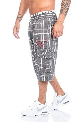 Raff&Taff – Bermudas para hombre, pantalones cortos de deporte, hasta 4XL antracita XXL