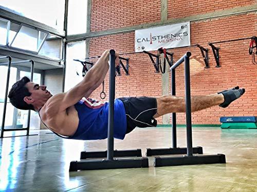 RAMASS Barras paralelas Fitness, Dip Station, para Gimnasia Calistenia