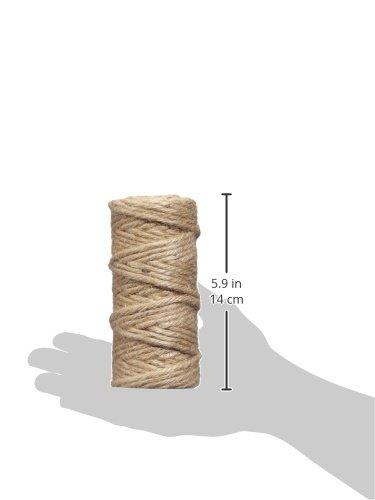 Rayher 4200431 6-Fold Jute Thread, Plastic, Natural, 6 mm, 35 m Spool Hilo de Yute, sextuple, 6mm ø, Bobina 35m