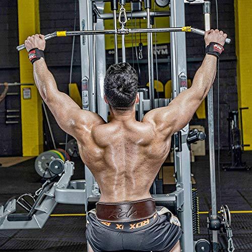 """RDX Cuero Gimnasio 4"""" Cinturón Musculacion Peso Entrenamiento Cinturones Pesas Levantamiento"""