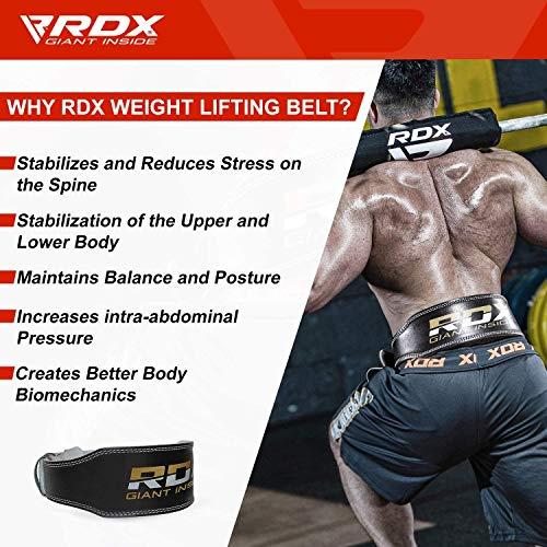 """RDX Gimnasio Cinturón Cuero 4"""" Musculacion Peso Cinturones Pesas Entrenamiento Levantamiento"""