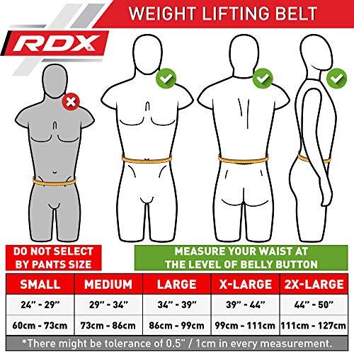 """RDX Gimnasio Cinturón Cuero 4"""" Musculacion Peso Entrenamiento Cinturones Pesas Levantamiento"""