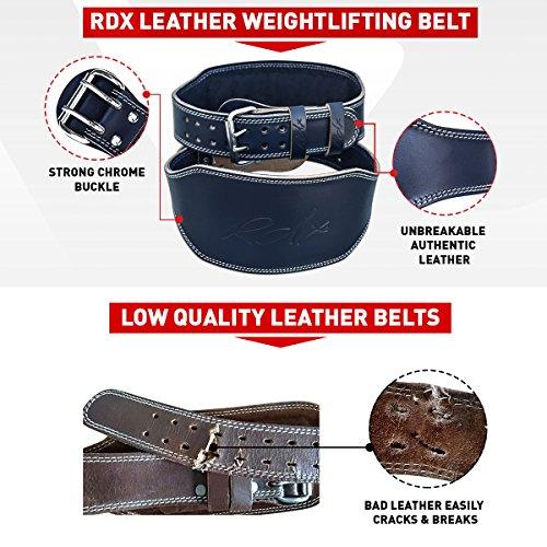 """RDX Gimnasio Cinturón Cuero 6"""" Peso Musculacion Entrenamiento Cinturones Pesas Levantamiento"""