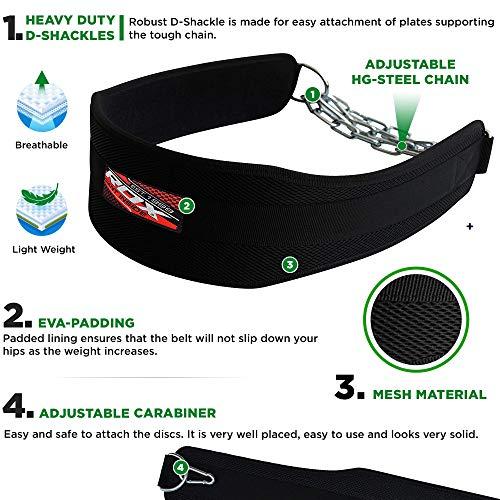 RDX Gimnasio Cinturón Inmersión Peso Entrenamiento Musculacion Cinturones Pesas Levantamiento