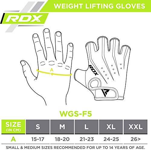 RDX Guantes Gimnasio Pesas Musculacion Fitness Entrenamiento Transpirable Powerlifting Ejercicio de Entrenamiento de Soporte de muñeca