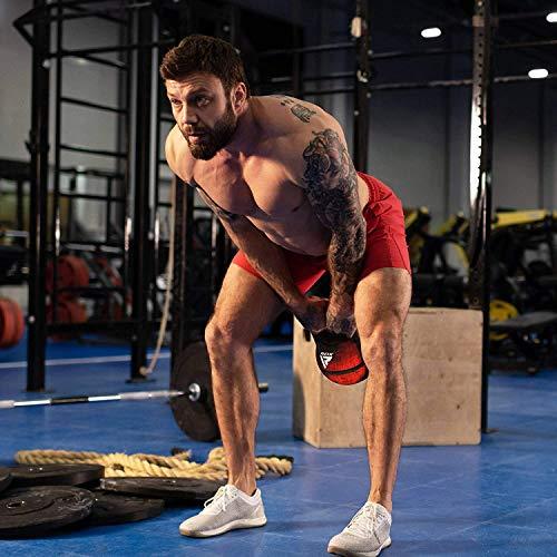 RDX Pesa Rusa Kettlebell Peso Swing Entrenamiento Front Squat Russian Sit-up Levantamiento de Pesas Bolsa de Arena Dumbells Muscular Equipos de Gimnasia para Yoga Ejercicio Deportivo 2kg a 10kg