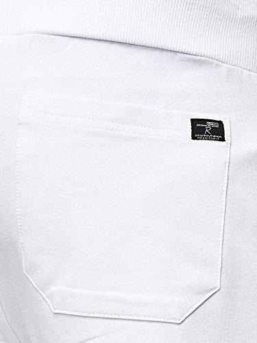 Red Bridge Pantalón Corto Casual de Verano para Hombre Impresión Bermuda Shorts Blanco
