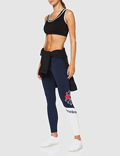 Reebok AC Logo Legging Mallas, Mujer, Maruni, 2XS