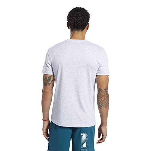 Reebok CF Anvil Graphic tee Camiseta de Manga Corta, Hombre, Gris (Light Grey Heather), XL