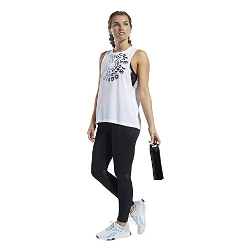Reebok CF Excellence Is Obvious Muscle Tank Camiseta sin Mangas, Mujer, Blanco (White), M