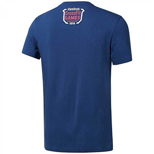 Reebok CF Games Fittest On Earth Camiseta, Hombre, Multicolor (bunblu), S
