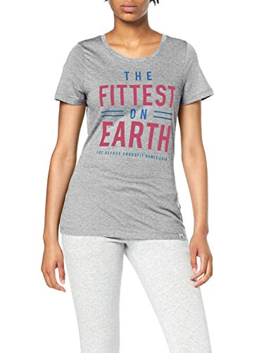 Reebok CF Games Fittest On Earth Camiseta, Mujer, Gris (brgrin), M