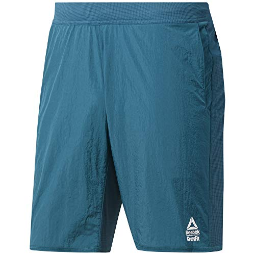 Reebok CF Hybrid Short-Knit Woven Pantalón Corto, Hombre, Heritage Teal, M