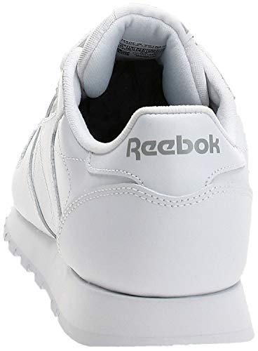 Reebok CL LTHR 2232 - Zapatillas de deporte de cuero para mujer, color blanco, talla 37
