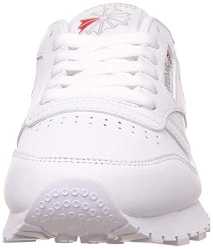Reebok CL LTHR 2232 - Zapatillas de deporte de cuero para mujer, color blanco, talla 40