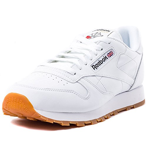 Reebok Cl Lthr, Zapatillas de Deporte para Hombre, Blanco (White/Gum 2), 44.5 EU