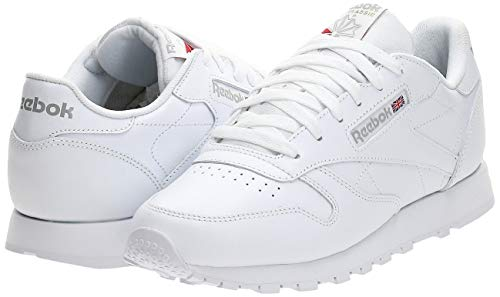 Reebok Classic Leather, Sneackers para Mujer, color Blanco, talla 41 EU / 7.5 UK / 10 US