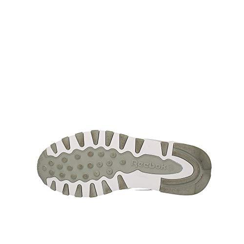 Reebok Classic Leather - Zapatillas de cuero para hombre, color blanco (int-white / lt. grey), talla 42