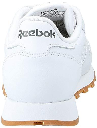 Reebok Classic Leather - Zapatillas de cuero para hombre, color blanco (white / gum 2), talla 40