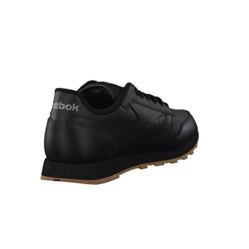 Reebok Classic Leather - Zapatillas de cuero para hombre, color negro (black / gum 2), talla 41
