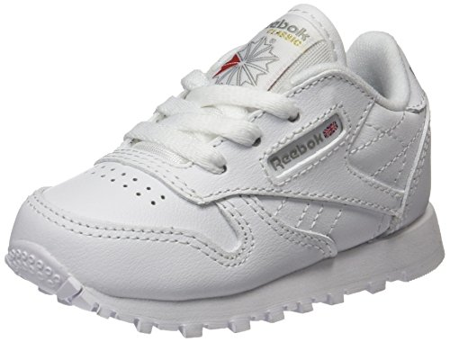 Reebok Classic Leather Zapatillas de trail running Unisex bebé, Marfil ( White 1), 22 EU