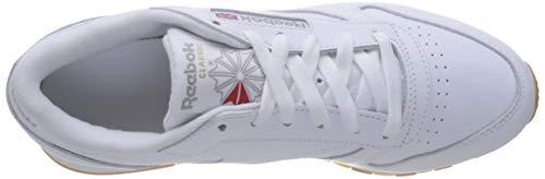 Reebok Classic Leather Zapatillas, Mujer, Blanco (Int-White / Gum), 39 EU