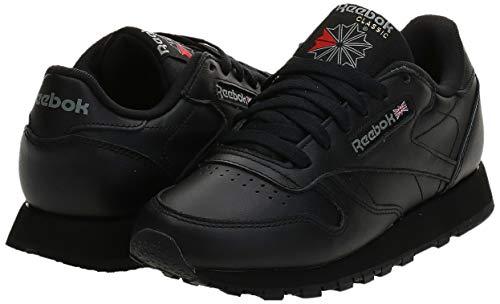Reebok Classic Leather Zapatillas, Mujer, Negro (Int / Black), 37.5 EU