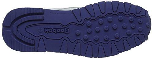 Reebok Classic Leather, Zapatillas Unisex Adulto, (Lurex-White/Lilac Shadow), 36.5 EU