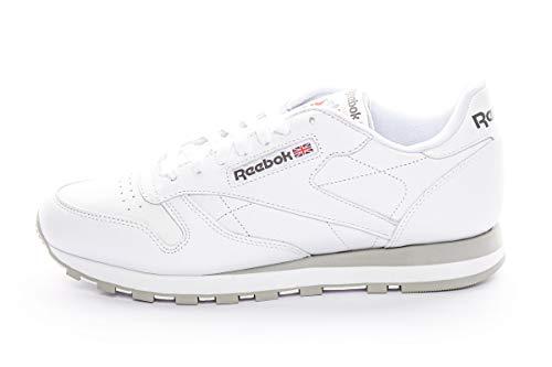 Reebok Classic Lthr 2214, Zapatillas de Trail Running para Hombre, Blanco (Intense White/Light Grey), 43 EU