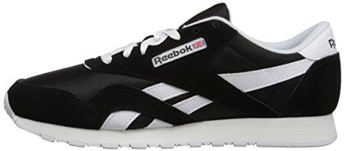 Reebok Classic Nylon Zapatilla de Running Hombre, Negro (Black / White), 44 EU