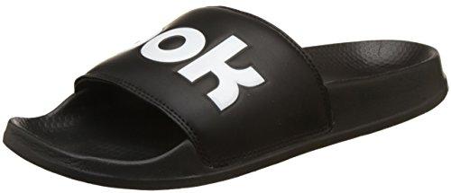 Reebok Classic Slide, Zapatos de Playa y Piscina Unisex Adulto, Negro (Splt/Black/White 000), 40.5 EU