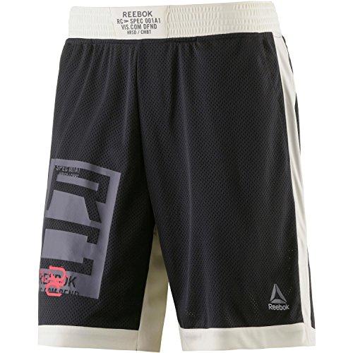 Reebok Combat Boxing Short Pantalón Corto, Hombre, Negro, S