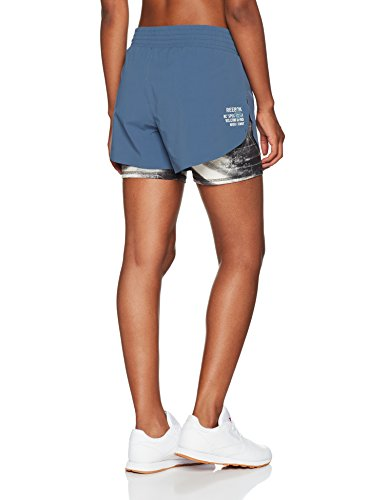Reebok Combat Kickboxing Short Pantalón Corto, Mujer, Azul (brablu), XS