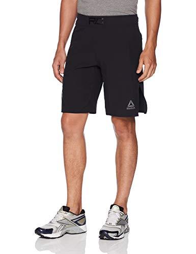 Reebok Combat MMA - Pantalón Corto para Hombre, Hombre, Pantalones Cortos, D96026, Negro, 42W