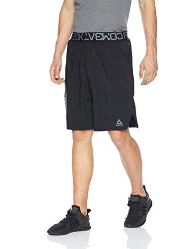Reebok Combat - Pantalones Cortos de Boxeo para Hombre Negro (54
