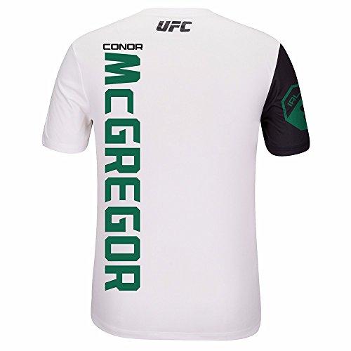 Reebok Conor McGregor UFC - Camiseta oficial para hombre (talla XL), color blanco y verde