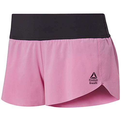 Reebok Crossfit Knit Woven SRT Pantalón Corto, Mujer, Rosa (Posh Pink), XS
