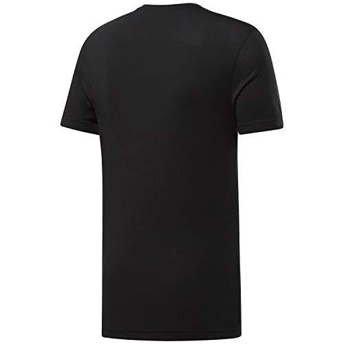 Reebok Crossfit Read tee Camiseta de Manga Corta, Hombre, Negro (Black/White), XS