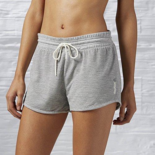 Reebok EL Placed Mesh Short - Pantalón Corto para Mujer, Color Gris, Talla XS