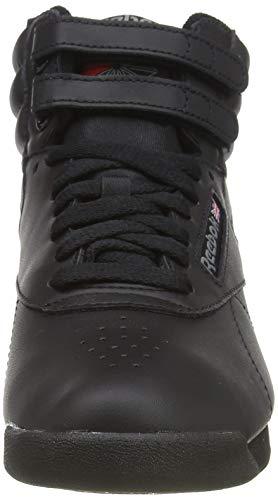 Reebok Freestyle Hi - Zapatillas de cuero para mujer, Negro (Black), 36 EU