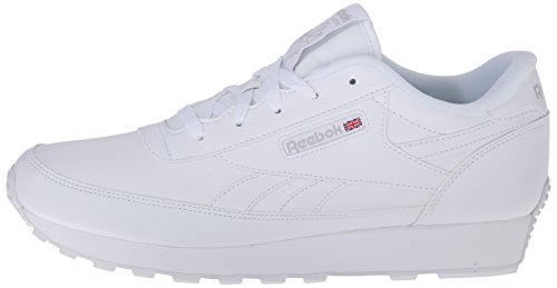 Reebok Mujeres Renaissance Piel Deportivos de Moda, White/Steel, Talla 8