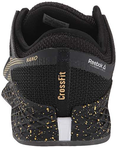 Reebok Nano 9, Cross Trainer para Hombre, Negro Blanco Dorado, 40 2/3 EU