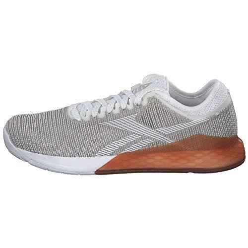Reebok Nano 9, Zapatillas de Entrenamiento para Hombre, Blanc Gris Clair Marron Clair, 40.5 EU