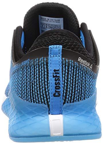 Reebok Nano 9, Zapatillas de Gimnasia para Hombre, Negro (Black/Bright Cyan/White Black/Bright Cyan/White), 40.5 EU