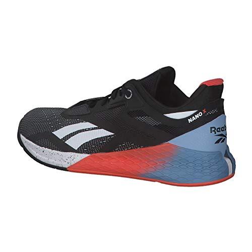 Reebok Nano X, Zapatillas de Deporte para Hombre, Negro/Blanco/VIVDOR, 41 EU
