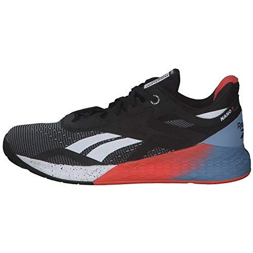 Reebok Nano X, Zapatillas de Deporte para Hombre, Negro/Blanco/VIVDOR, 42 EU